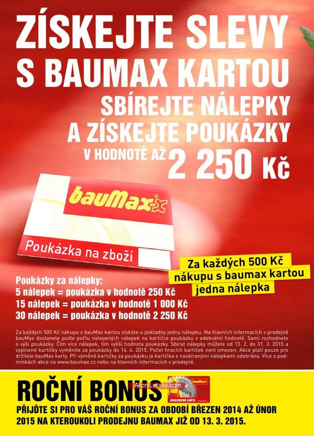 Baumax Letak Od 27 2 2015 Slevy Na Karty 999 36