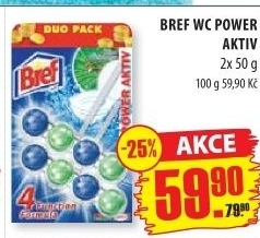 WC blok tuhý Power Aktiv Bref