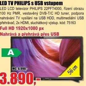 BTV LCD PHILIPS 22PFT4000/12