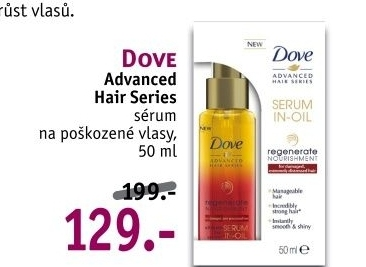 Sérum na vlasy Advanced Regenerate Dove