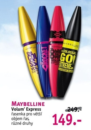 Řasenka Volum' Express Maybelline