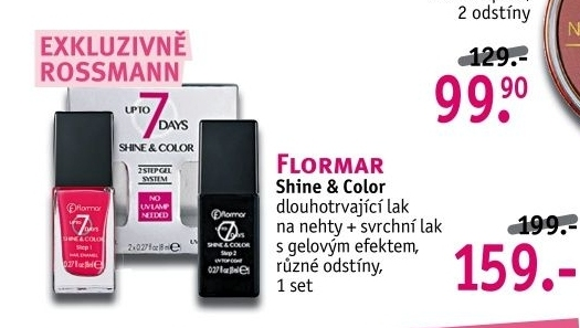 Set laků na nehty 7Days Shine and Colors Flormar