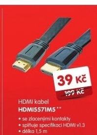 HDMI kabel, 1,5 m, pozlacený CABLE-557/1.5