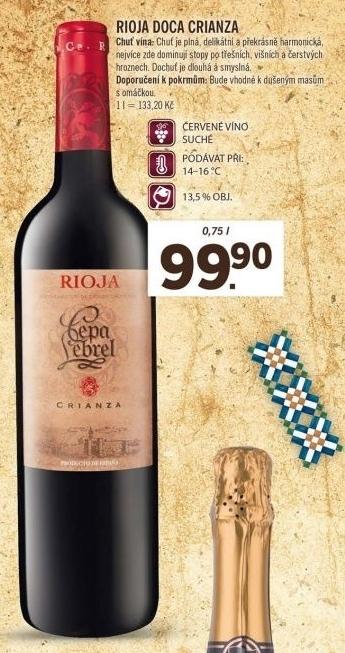 Tesno Dušijo Prsi Vino Lidl Rioja Master Profi Net