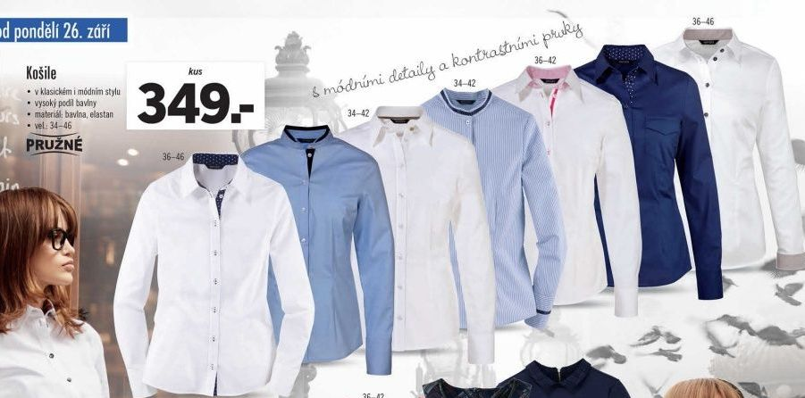 Dámská košile Esmara v akci Lidl od 26.9.2016 978eab5b1f