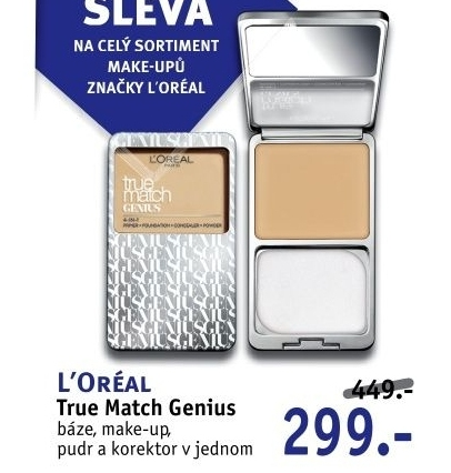 Báze + make up + pudr + korektor 4v1 True Match Genius L'Oréal