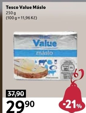Máslo Tesco Value