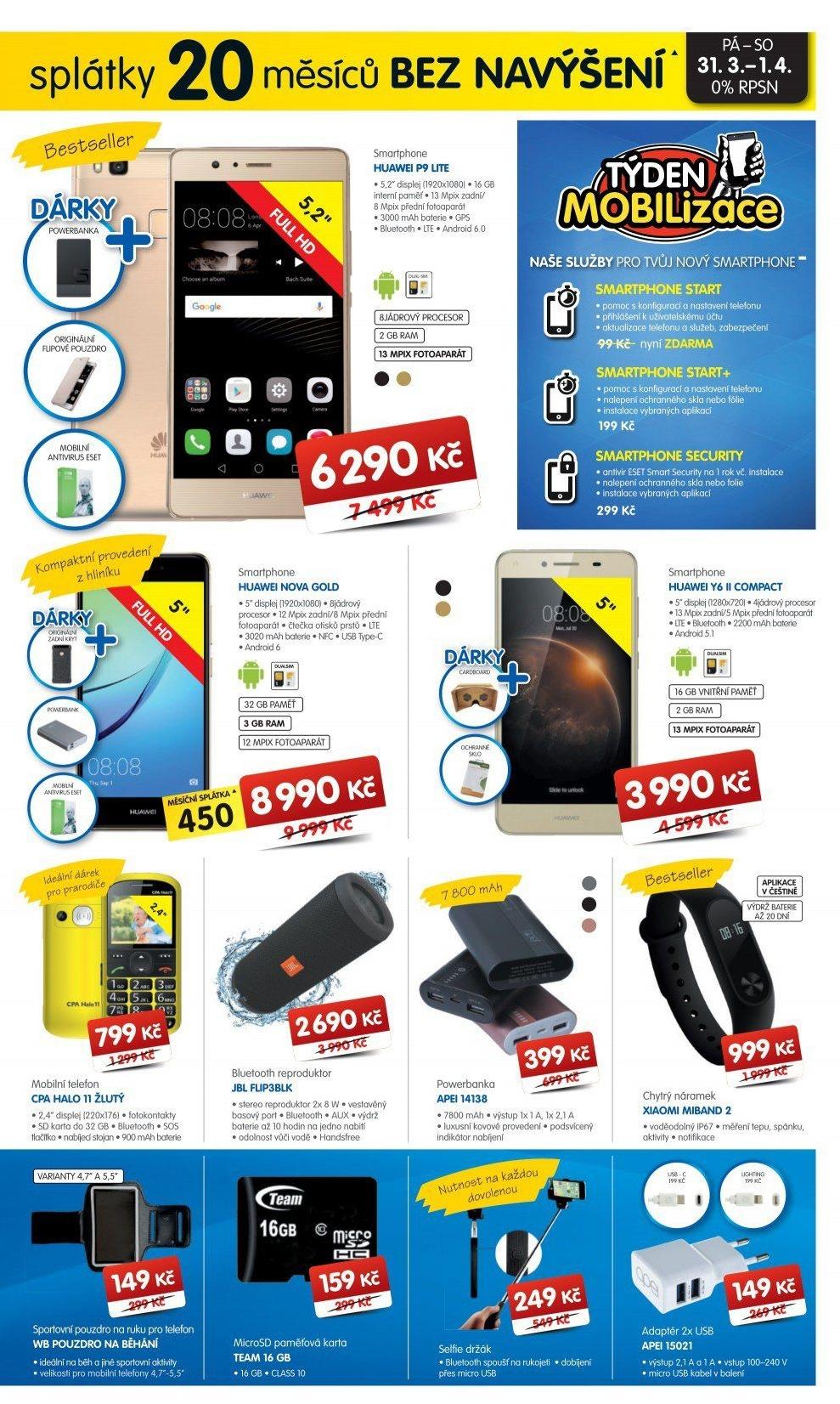 37b9469a3a Mobilní telefon Huawei P9 Lite Dual Sim v akci Okay elektro od 29.3.2017
