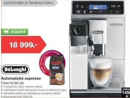 fb2959ee8 Kávovar espresso DeLonghi ETAM 29.660.SB v akci Electro World od 6.4 ...