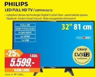 30afcc76c 32PFS4132/12 LED FULL HD TV PHILIPS v akci Planeo Elektro od 1.8.2018