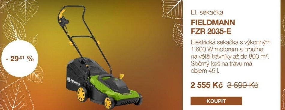 6c891685e Elektrická sekačka Fieldmann FZR 2035 E v akci Electro World od 20.9 ...