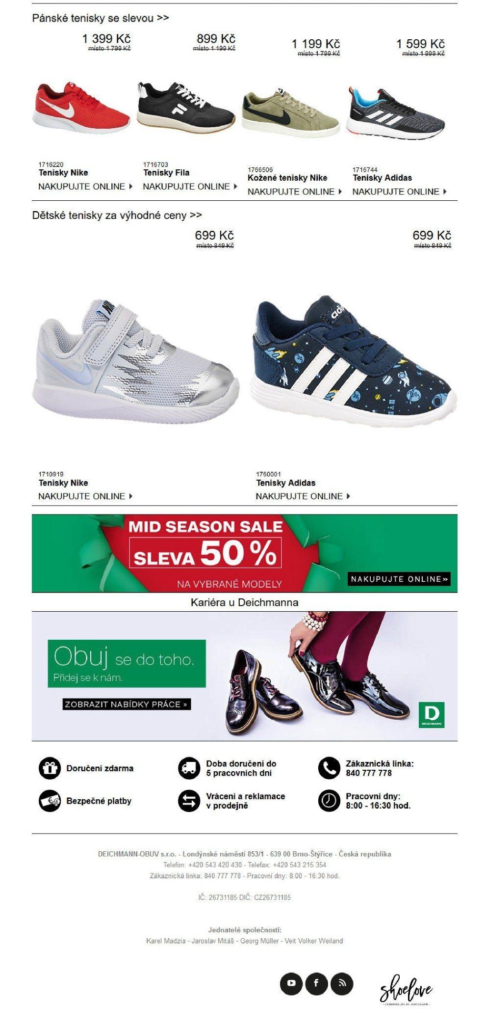 533bedb856 Pánské tenisky Adidas v akci DEICHMANN od 25.10.2018