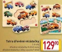 6f513f38a Leporelo Tatra v práci Dino Vkládačka dřevěná Dino ...