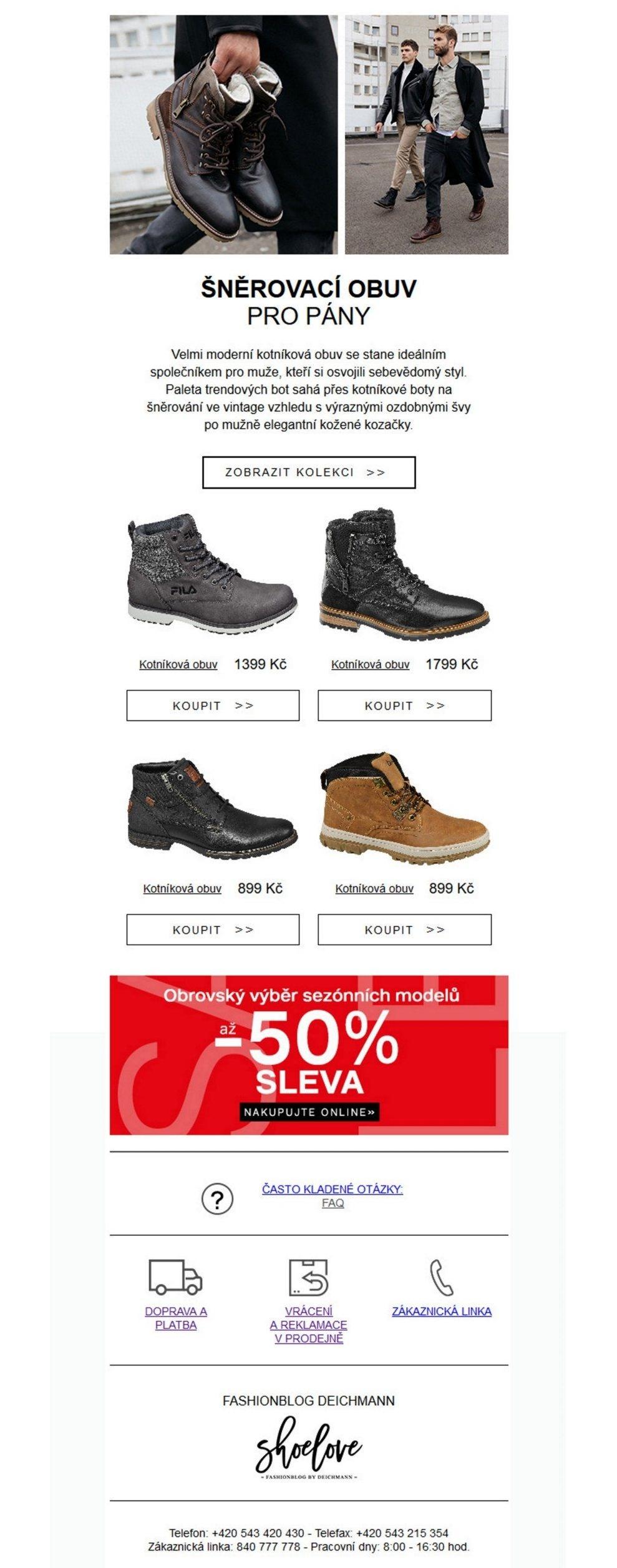 44b0ee9bc8 Široká nabídka obuvi a kabelek Deichmann v akci DEICHMANN od 21.12.2018