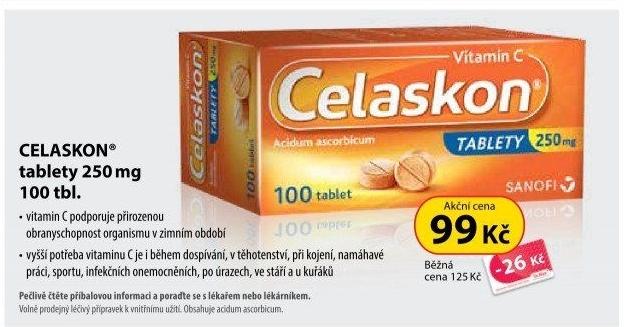 Tablety Vitamín C Celaskon Zentiva v akci Dr. Max od 9.1.2019 17575670549