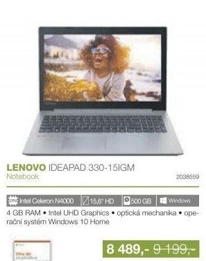 37ecb47645 Lenovo IdeaPad 330-15IGM 81D10036CK šedý notebook v akci Electro ...